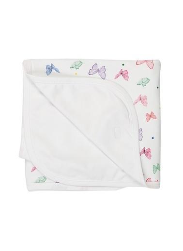 Nila Kids Nila Kids Renkli Butterfly Organik Battaniye Renkli
